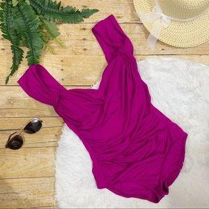 Badgley Mischka Swim - Badgley Mischka • Fuchsia Rouged Swimsuit